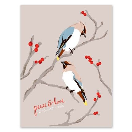 Perched Bird Greeting Card