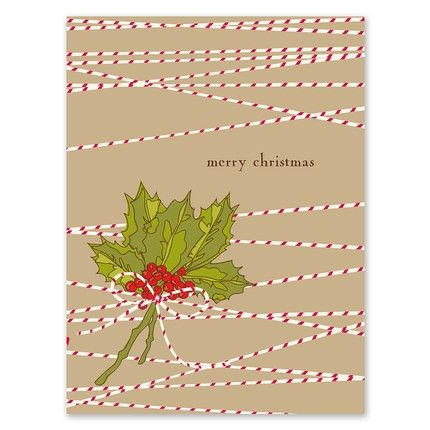 Bunch of Holly Greeting Card