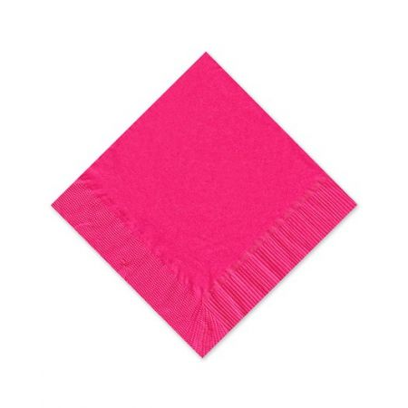 Hot Pink Beverage Napkin