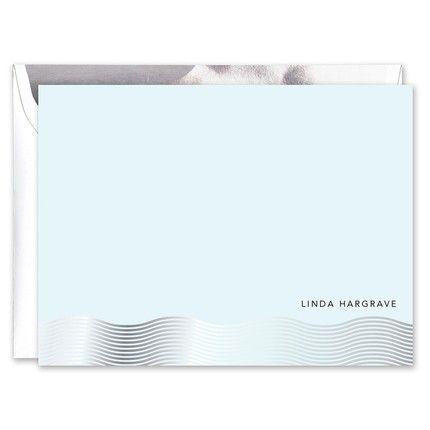 Silver Foil Wave Flat Card
