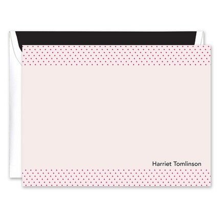 Dotted in Pink Flat Card
