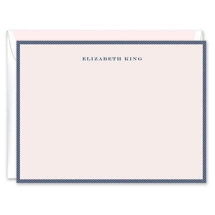 Pink & Navy Flat Card