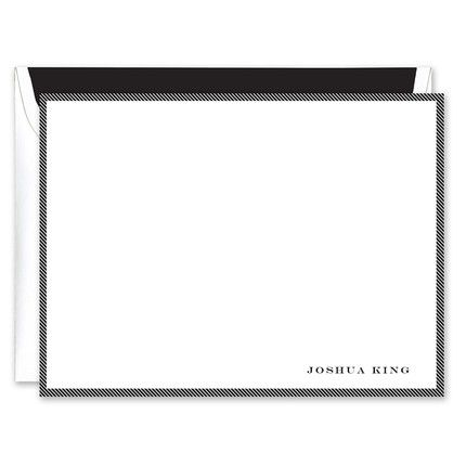 White & Black Flat Card
