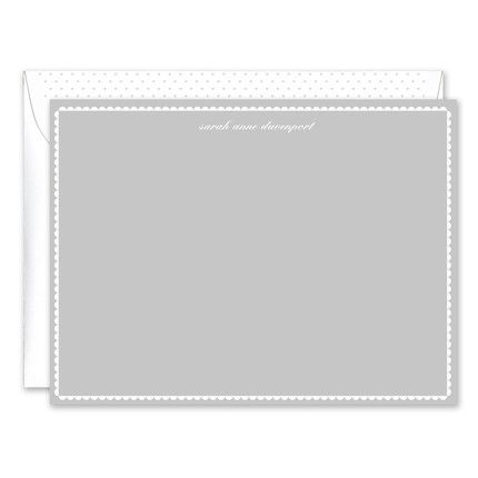 Gray Scallop Flat Card