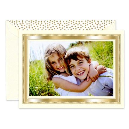 Gold Bead Photo Card
