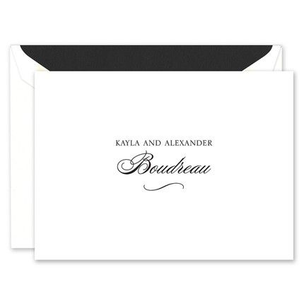Bright White Note Card