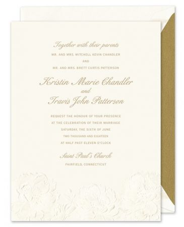 Embossed Flowers Invitation