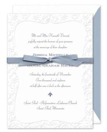 Embossed Paisley Invitation