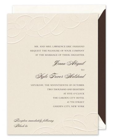 Embossed Flourish Invitation