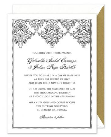 Lace Scroll Invitation