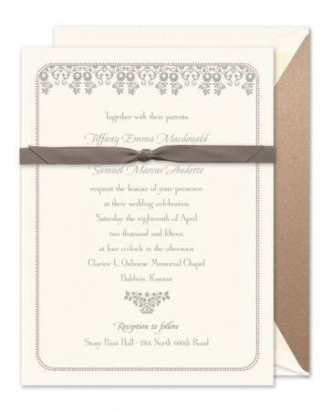 Wedding Damask Invitation