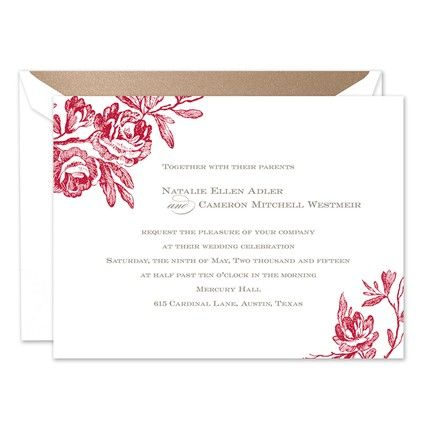 Antique Roses Invitation