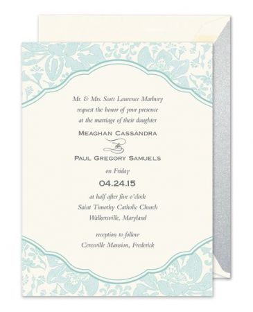 Blue Botanical Invitation
