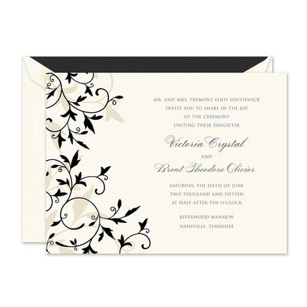 Black Tendrils Invitation