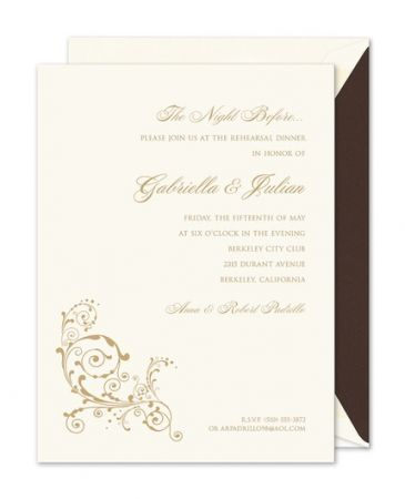 Scroll Flourish Invitation
