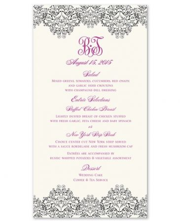 Scroll Menu Card