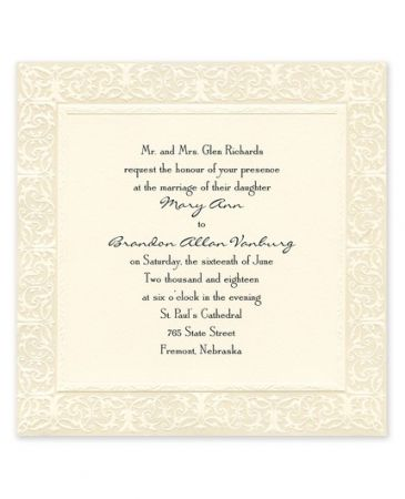 Filigree Invitation