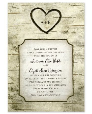 Heart Carving Invitation