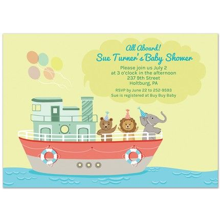 Animal Boat Invitation