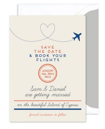 Air Mail Save the Date