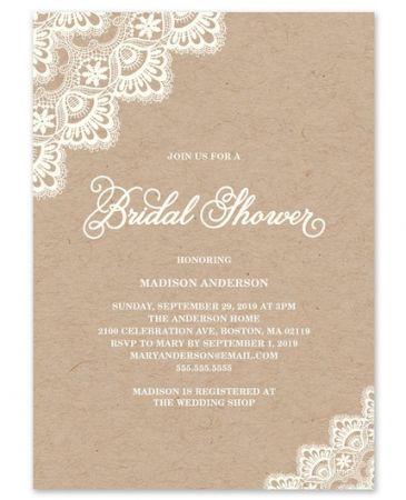 Romantic Lace Invitation