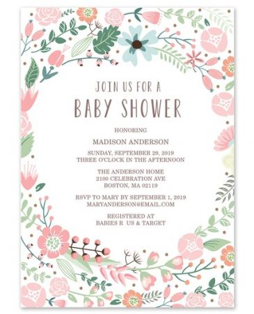 Floral Invitation