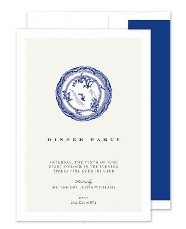 Blue Plate Invitation