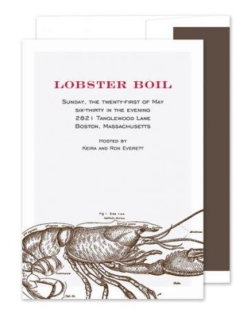 Lobster Boil Invitation