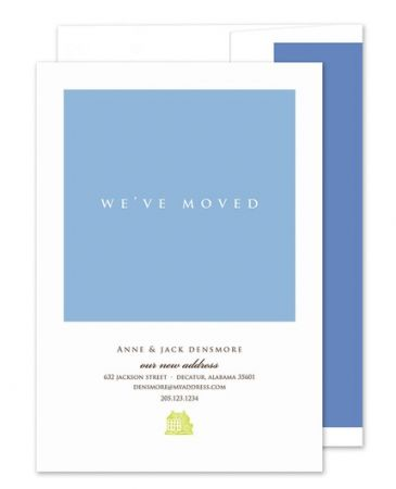we ve moved announcement fine stationery