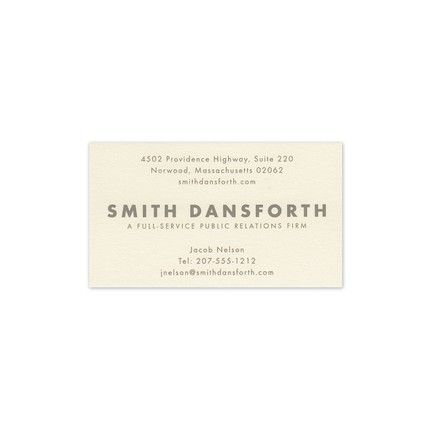 Danbury Business Card