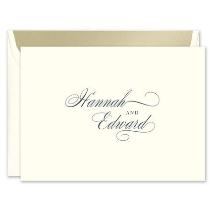 Splendid Ecru Note Card