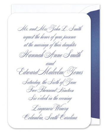 Rounded White Invitation