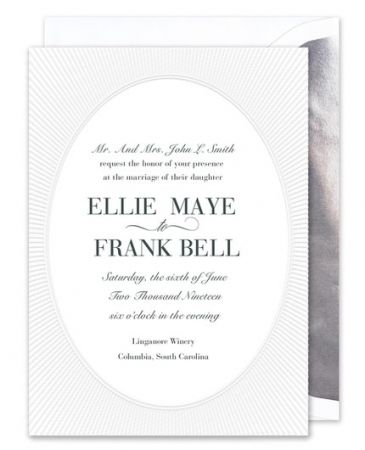 Radiant Embossed Invitation