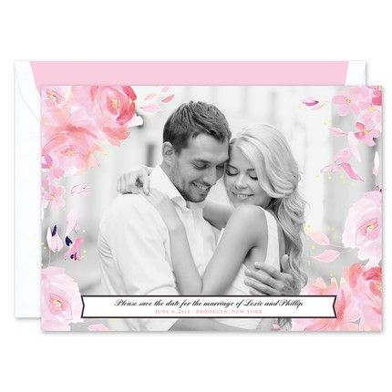 Watercolor Floral Photo Card