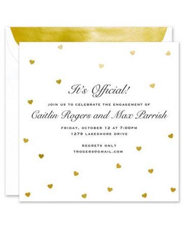 Foil Hearts Invitation
