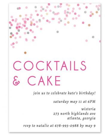 Confetti Cocktail Invitation