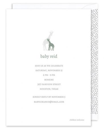 Baby Giraffe Invitation