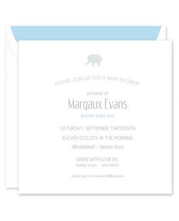 Blue Elephant Invitation