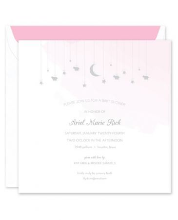 Pink Watercolor Invitation