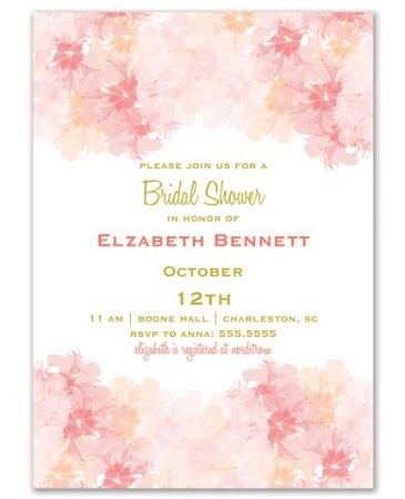 Blushing Bride Invitation
