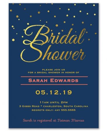 Navy & Gold Invitation
