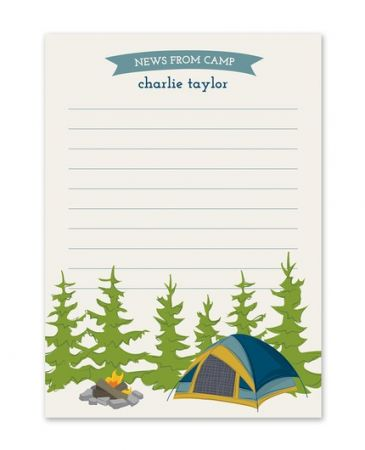 Camp Tent Flat Card