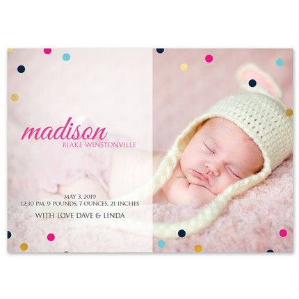 Polka Dots Photo Card