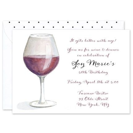 Merlot Glass Invitation