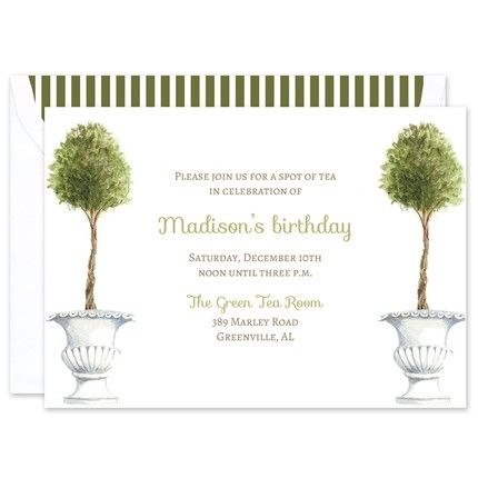Topiaries Invitation