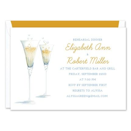 Champagne Toast Invitation