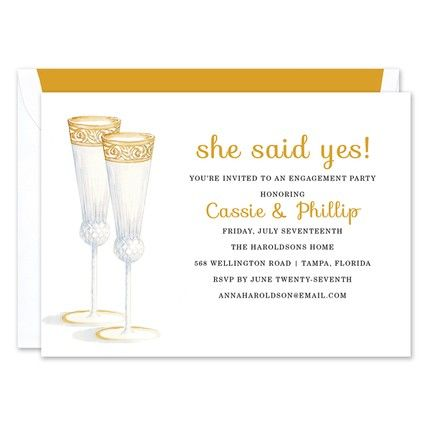 Champagne Flutes Invitation