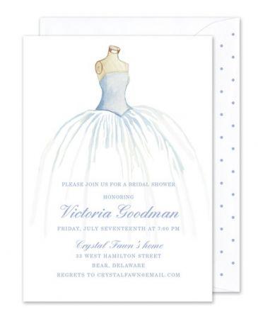 Bridal Gown Invitation
