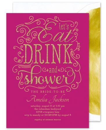 Glitter Shower Invitation