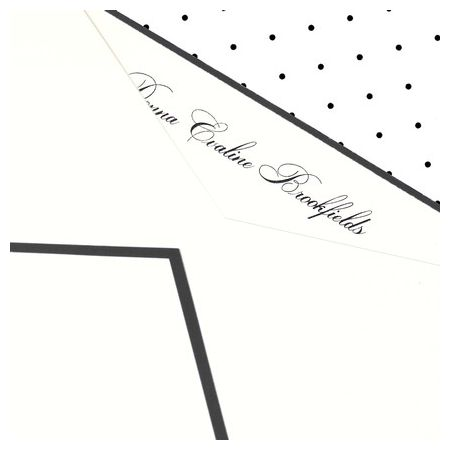 Black Tie Flat Card